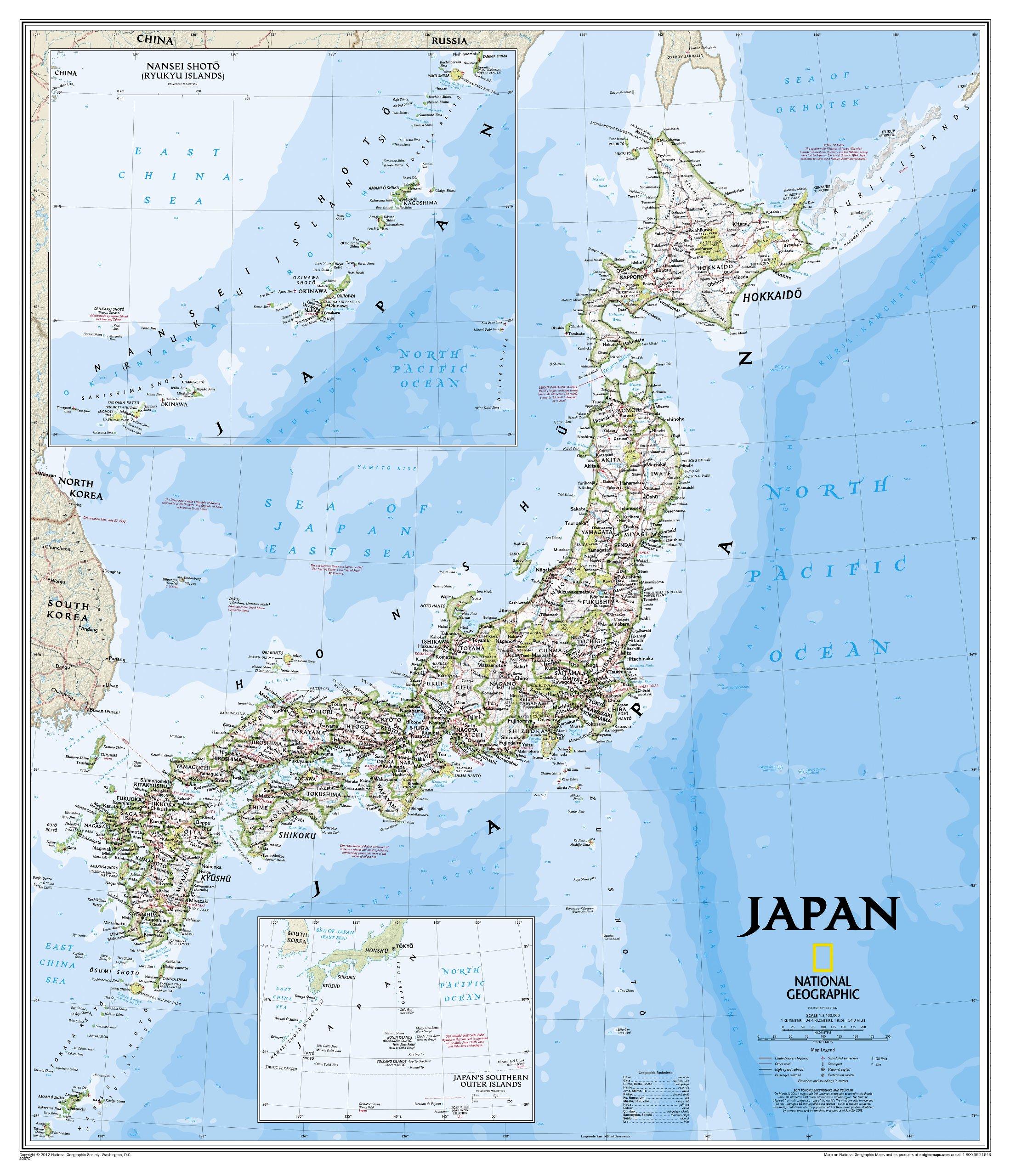Landkaarten Japan