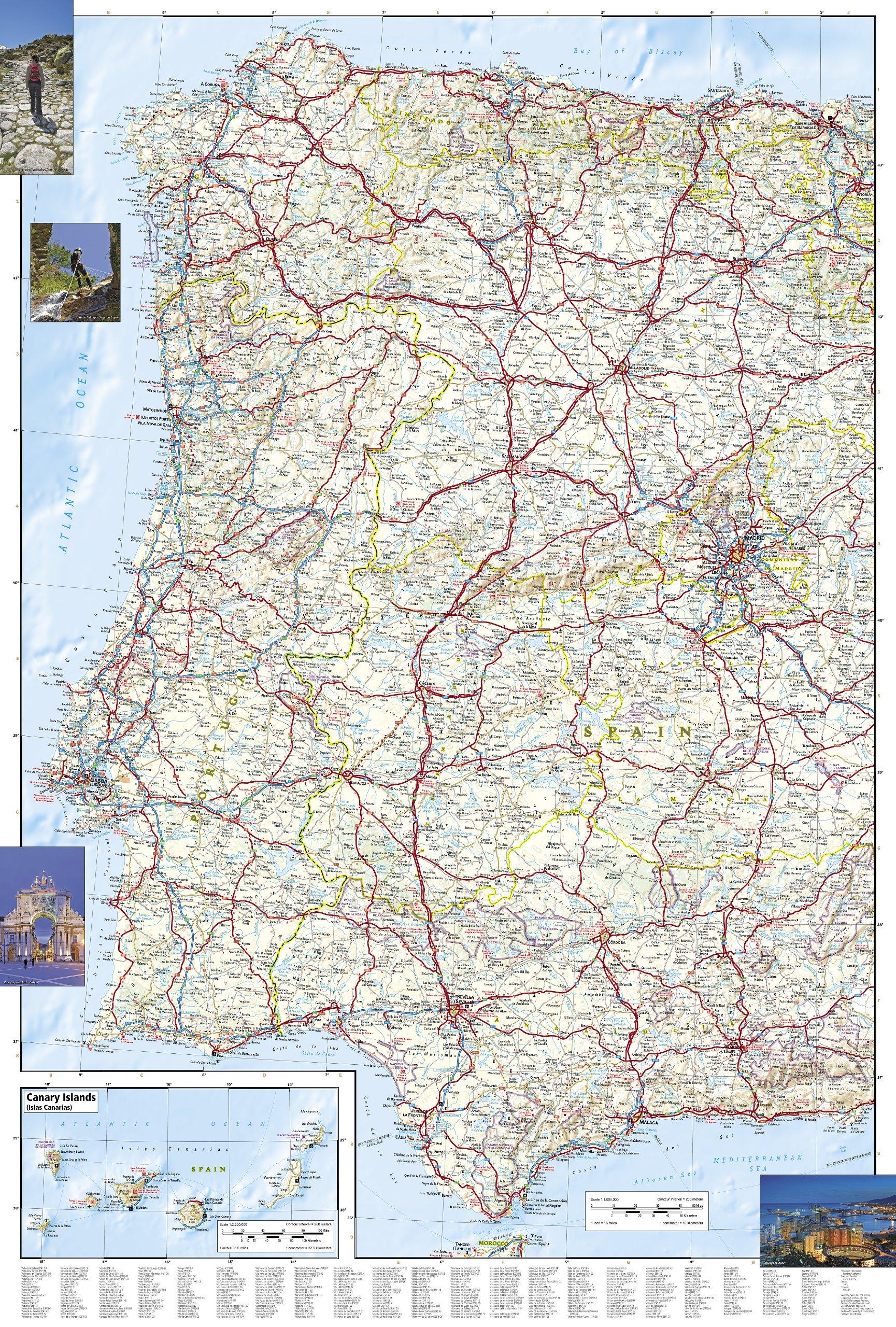Wegenkaart Landkaart 3307 Adventure Map Spain Portugal