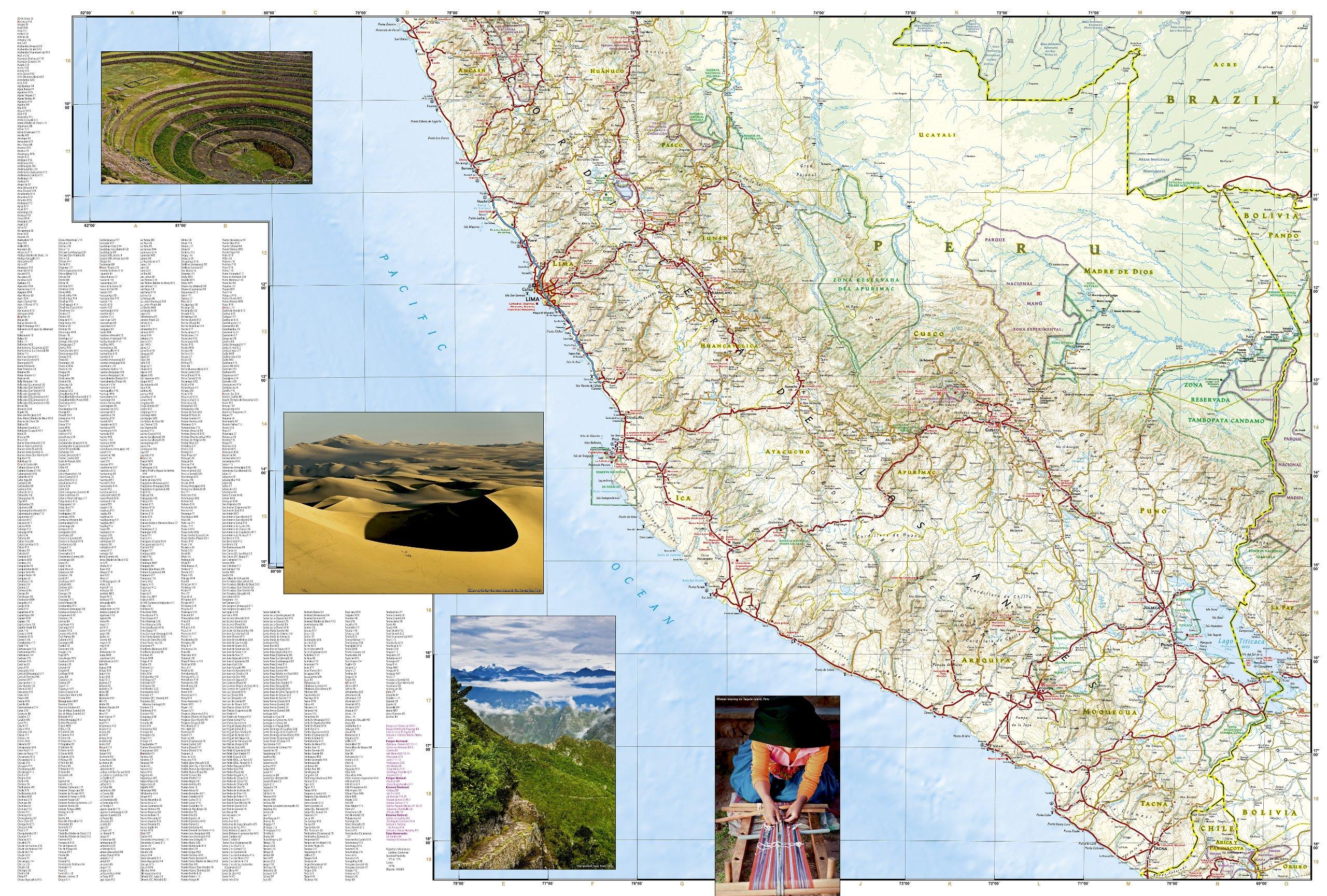 Wegenkaart Landkaart 3404 Adventure Map Peru National