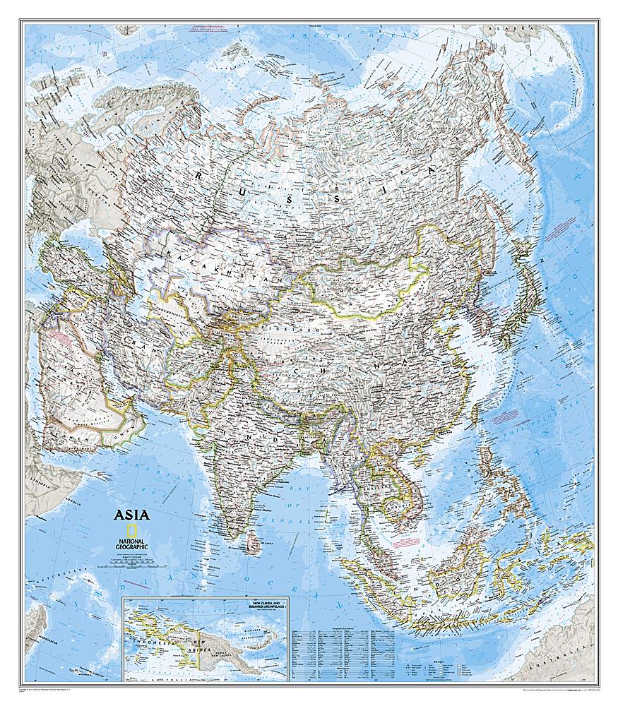 Prikbord Azië, politiek, 84 x 96 cm | National Geographic de zwerver