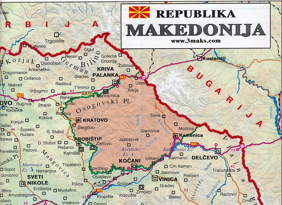 Kaarten Belgie Macedonie