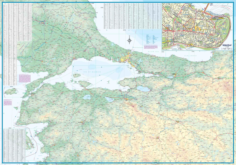 Wegenkaart Landkaart West Turkije Turkey West Itmb
