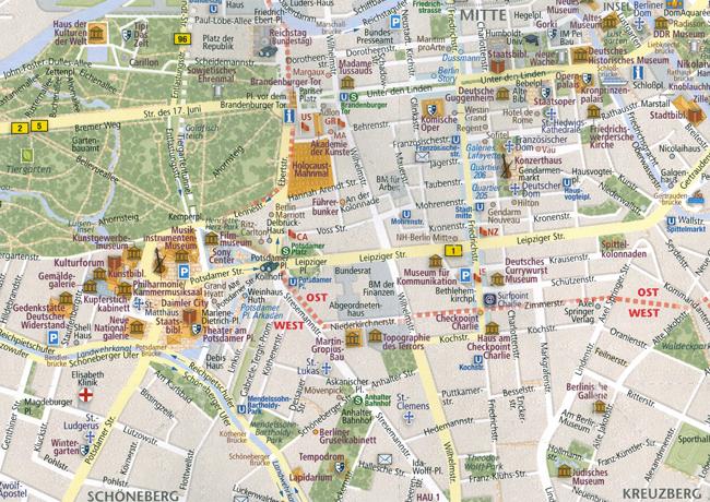 Plattegrond popout map berlijn berlin compass maps 9781845879778