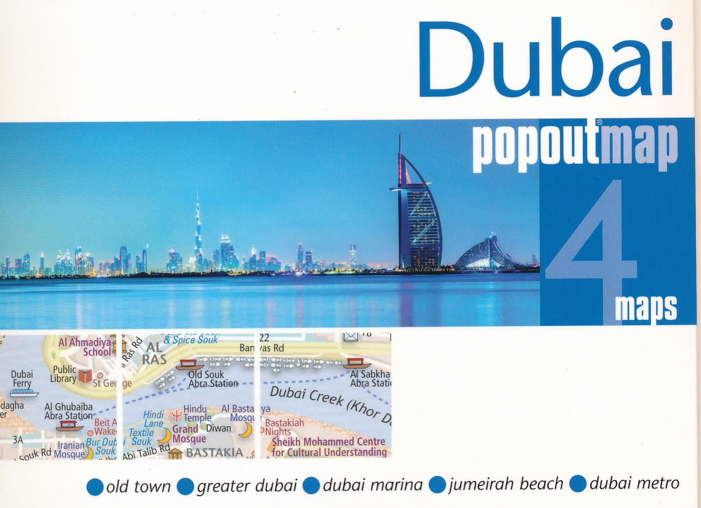Online bestellen: Stadsplattegrond Popout Map Dubai | Compass Maps
