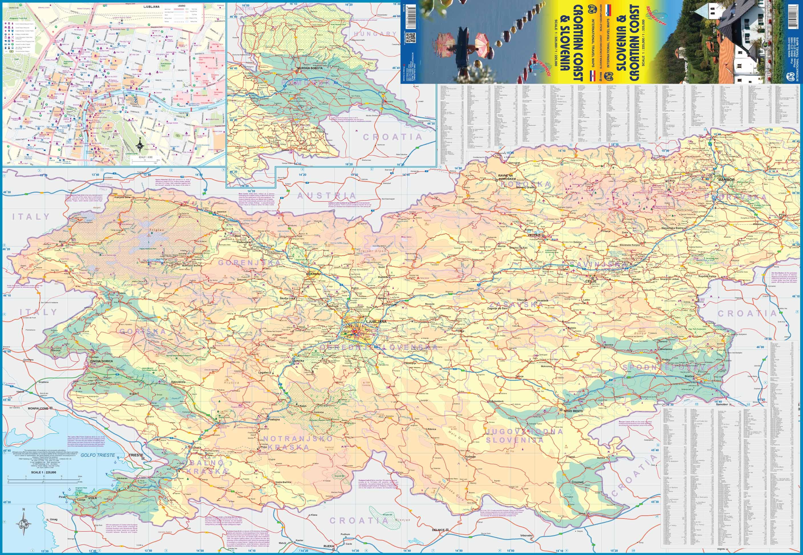 Wegenkaart - landkaart Slovenie - Slovenia & Croatian