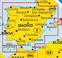 Wegenkaart Landkaart Spain Portugal Spanje Portugal Marco