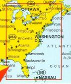Wegenkaart Landkaart Usa East Verenigde Staten Oost Marco