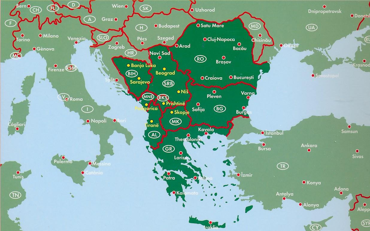 Wegenatlas Superatlas Balkan Sud Balkan Zuid Freytag Berndt