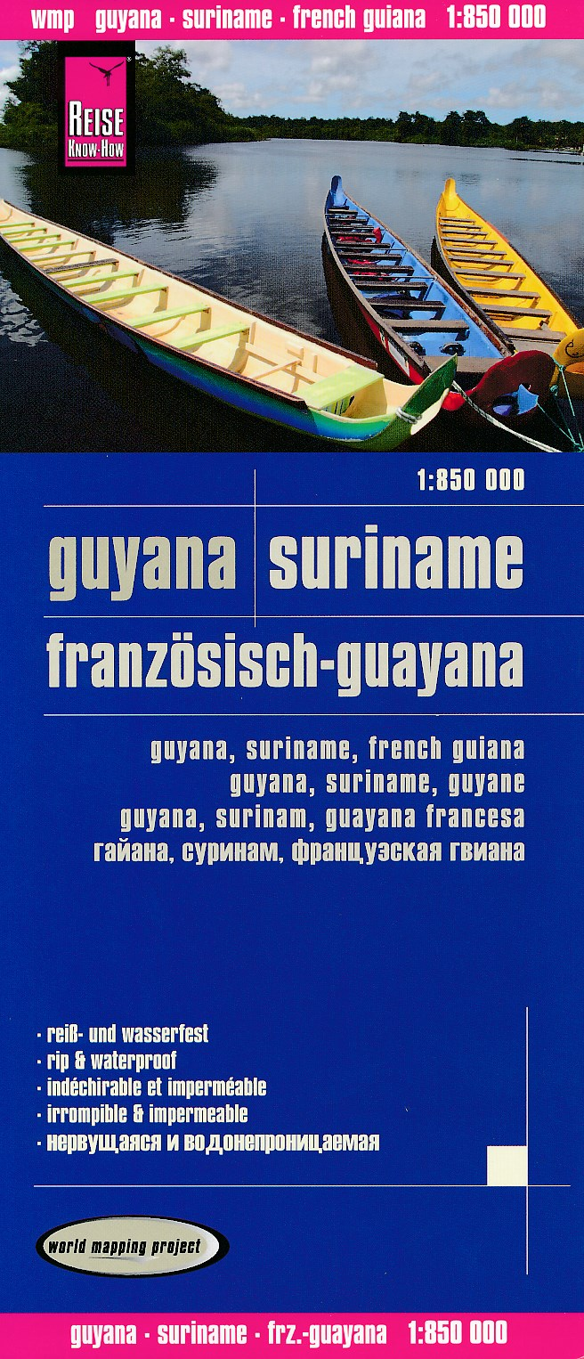 Landkaarten en wegenkaarten Suriname
