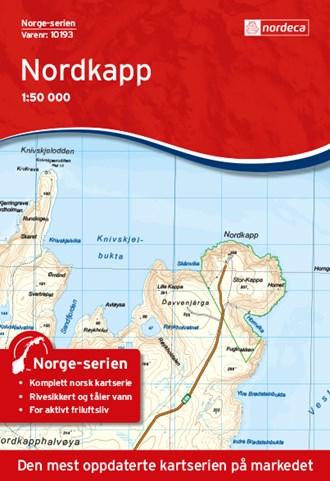 Wandelkaart - Topografische kaart 10193 Norge Serien Nordkapp - Noordkaap | Nordeca de zwerver