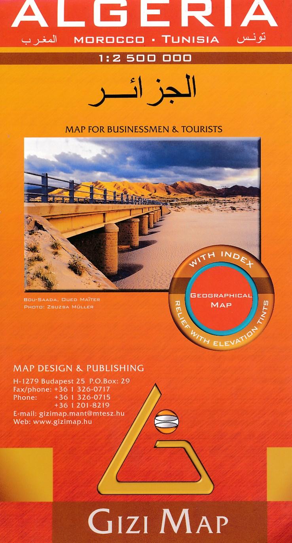 Online bestellen: Wegenkaart - landkaart Algeria - Algerije | Gizi Map