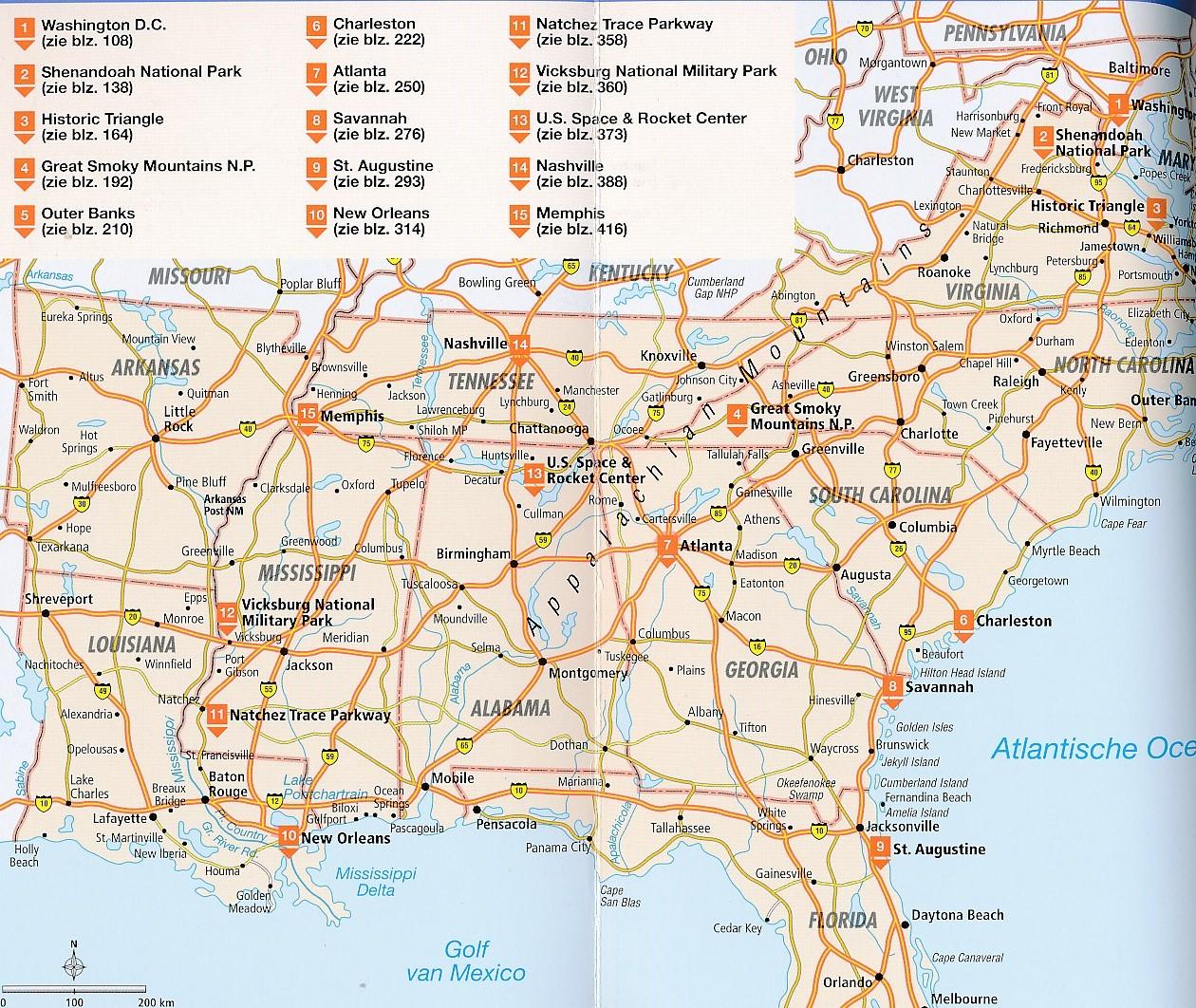 Heloohaloo 25 Inspirerend Kaart Oostkust Usa