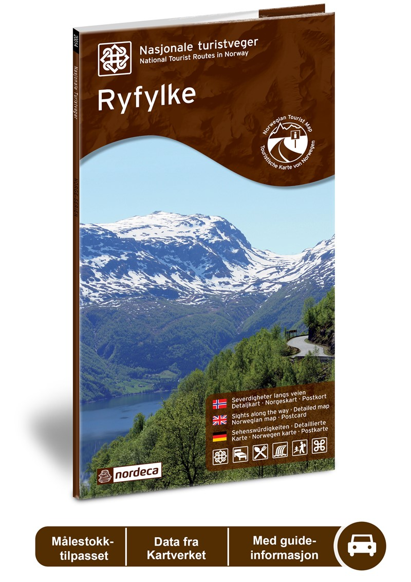 Wegenkaart - landkaart 02 Nasjonale Turistveger Ryfylke | Nordeca