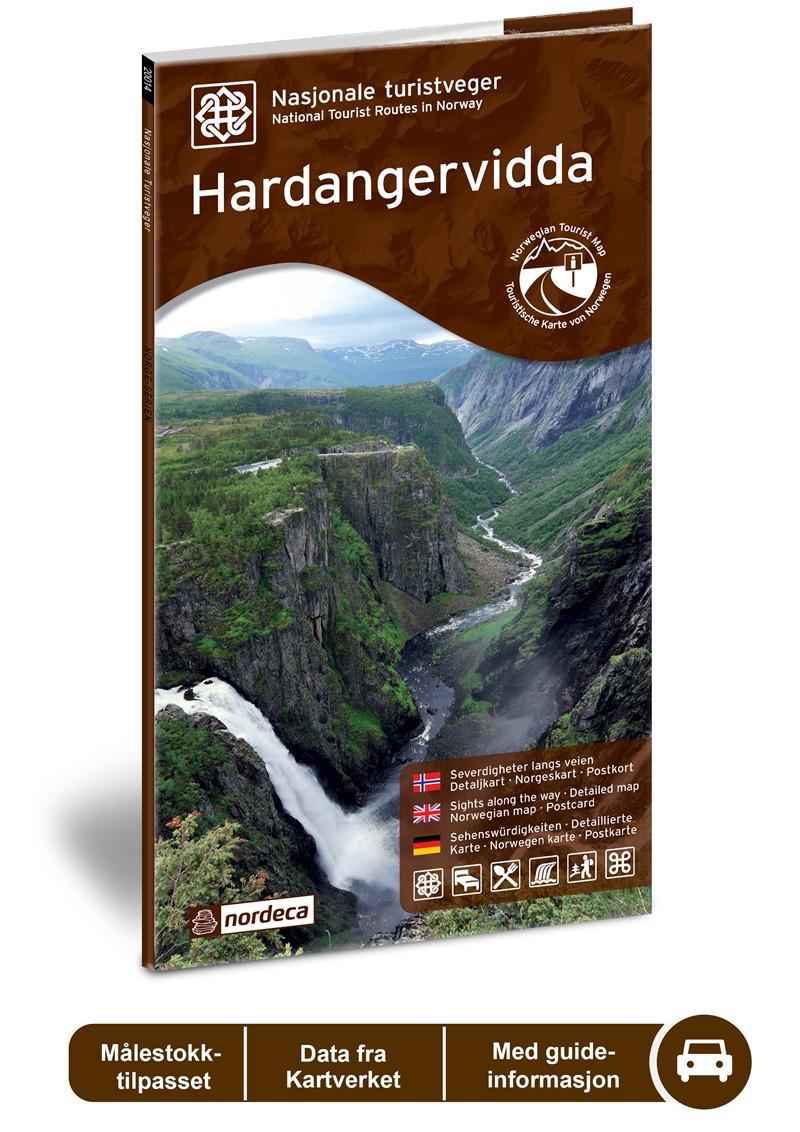 Wegenkaart - landkaart 04 Nasjonale Turistveger Hardangervidda | Nordeca