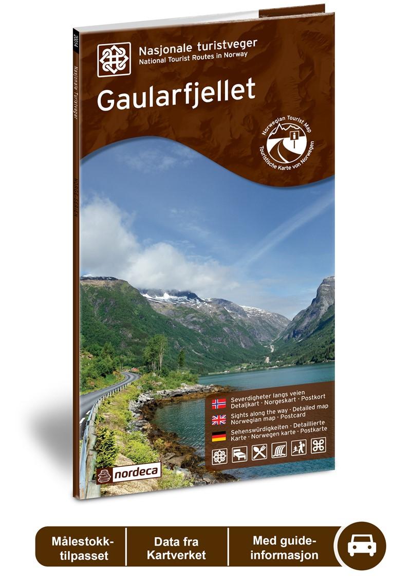 Wegenkaart - landkaart 07 Nasjonale Turistveger Gaularfjellet | Nordeca