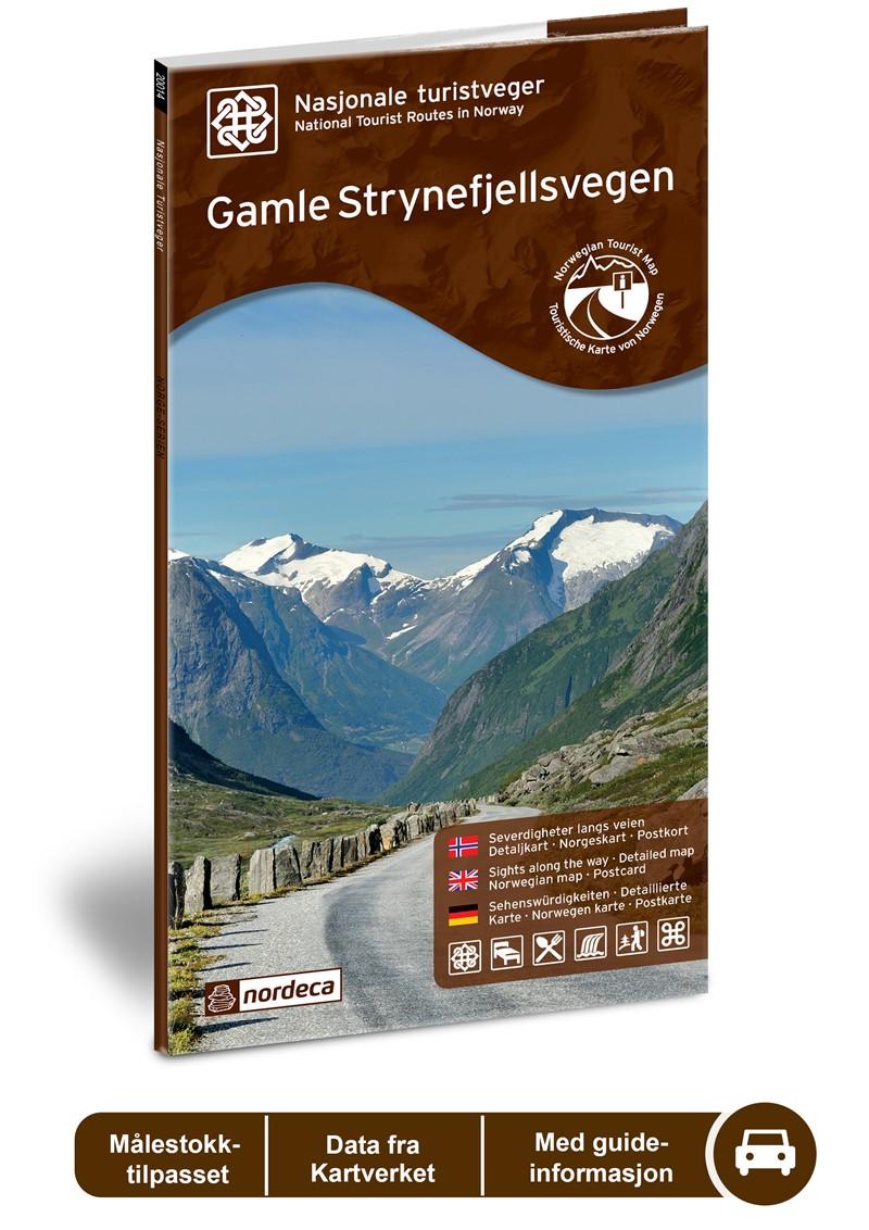 Wegenkaart - landkaart 09 Nasjonale Turistveger Gamle Strynefjellsvegen | Nordeca