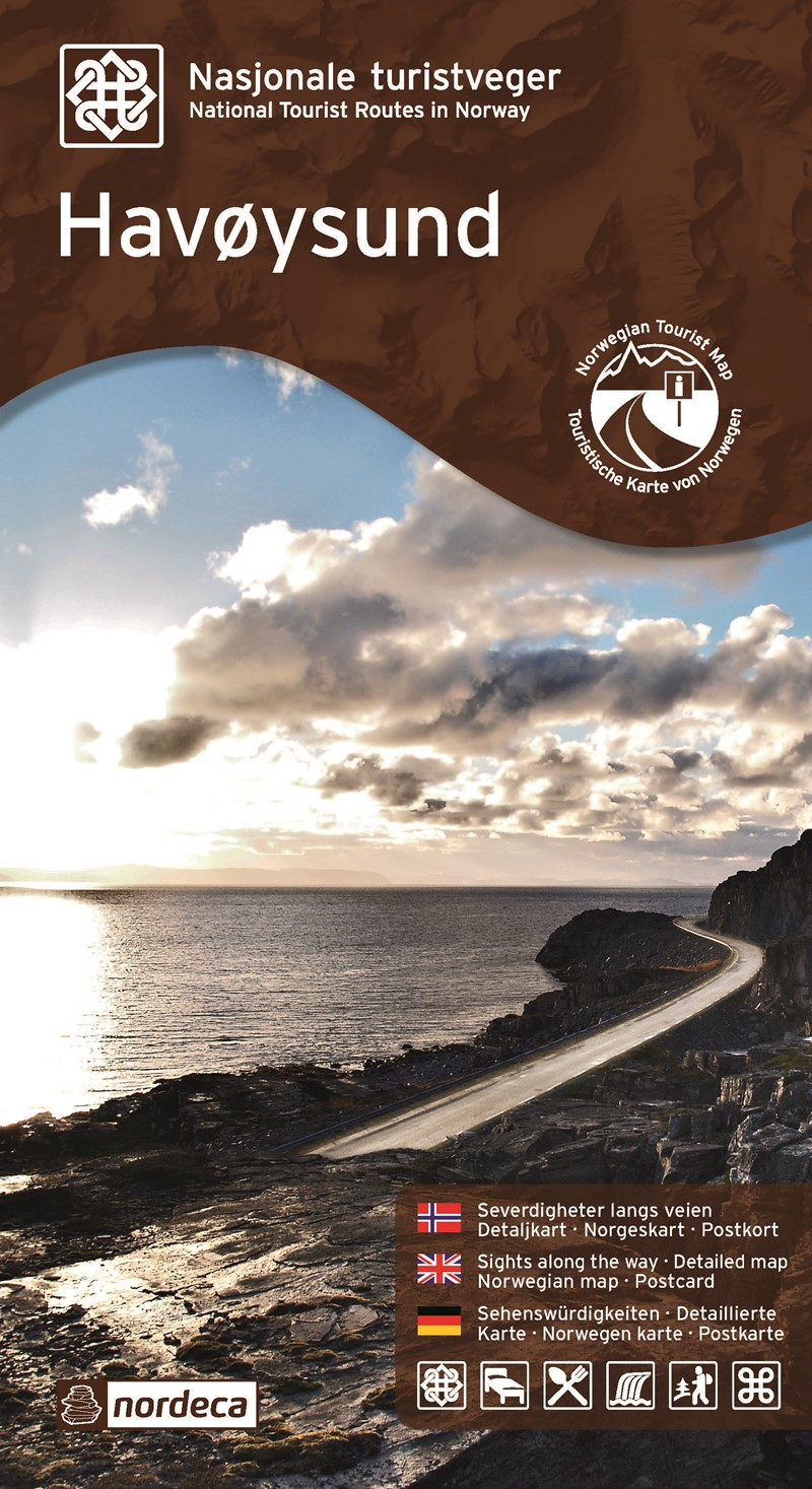 Wegenkaart - landkaart 17 Nasjonale Turistveger Havøysund | Nordeca