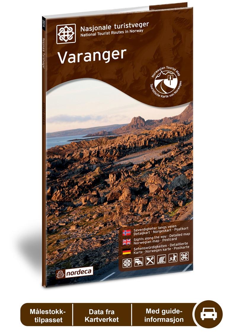 Wegenkaart - landkaart 18 Nasjonale Turistveger Varanger | Nordeca