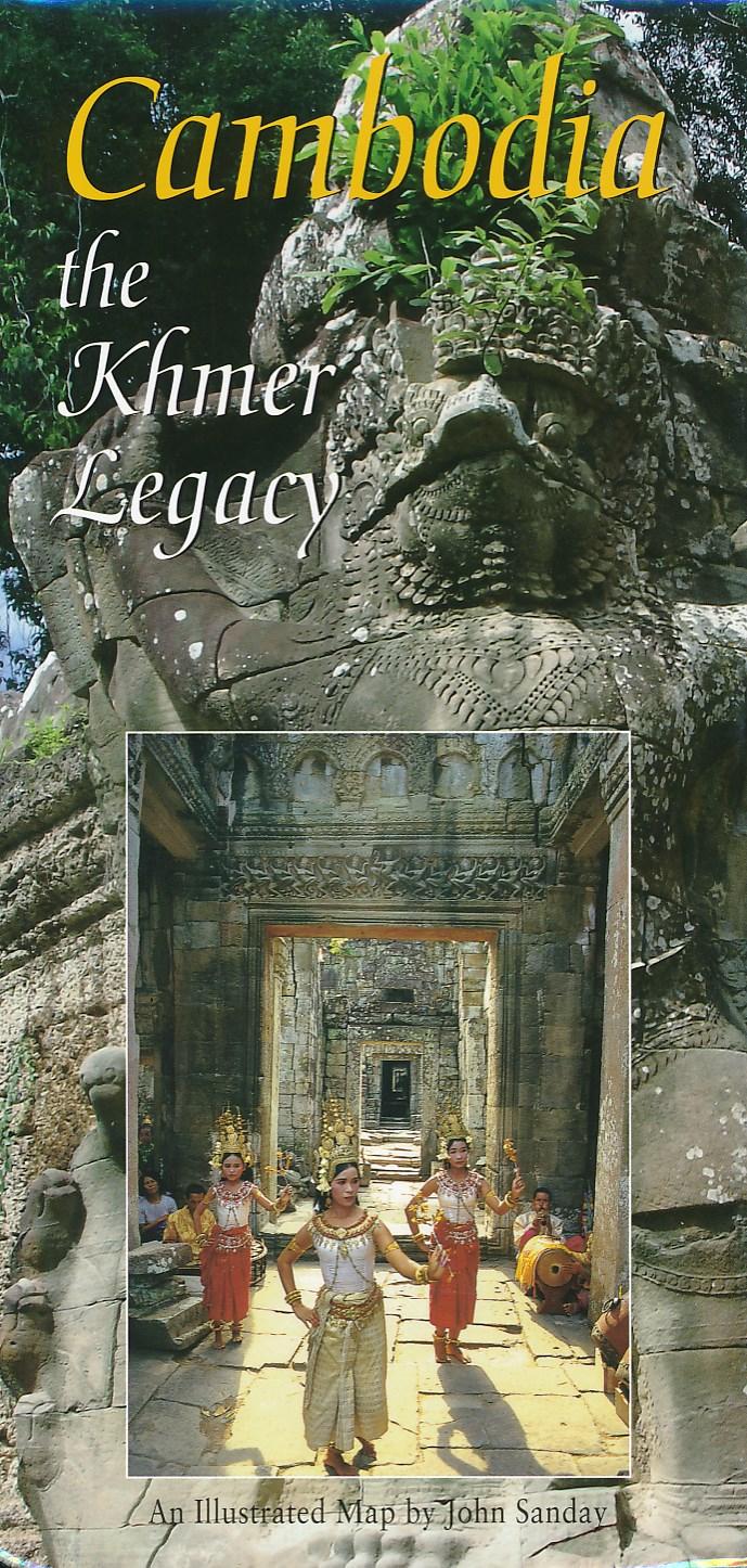 Wegenkaart - landkaart Cambodja - Cambodia the Khmer Legacy   Odyssey
