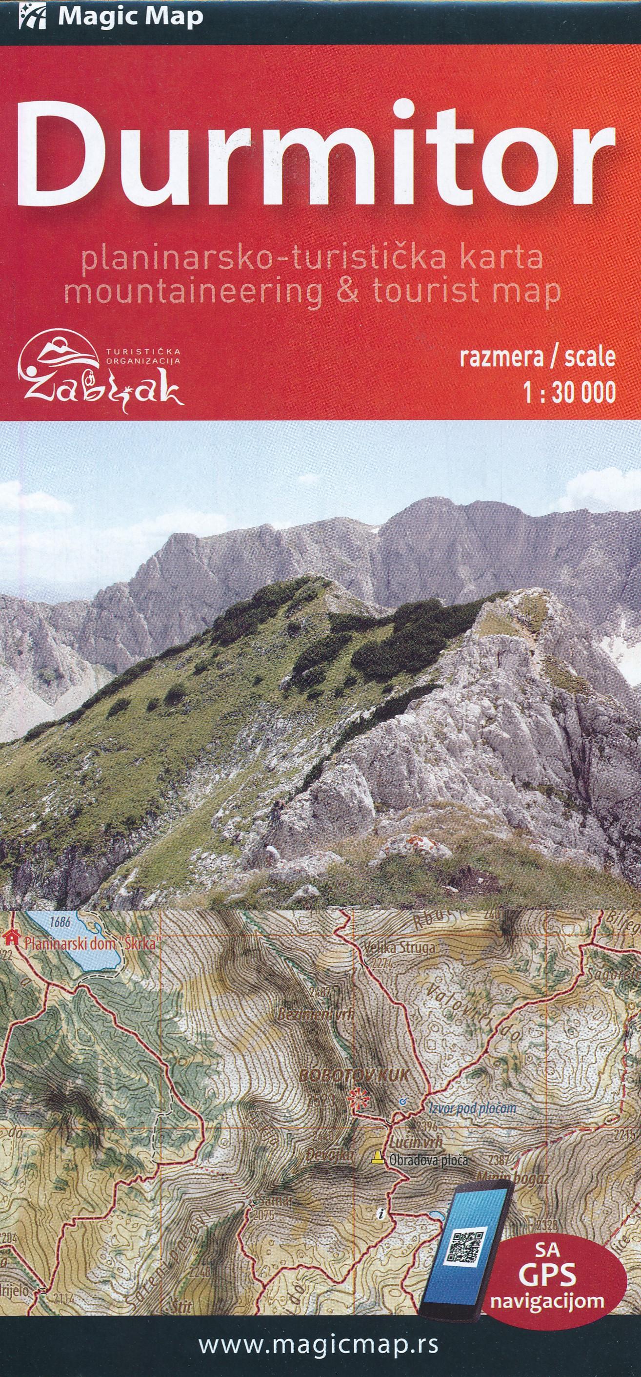 Online bestellen: Wandelkaart Durmitor National Park - Montenegro   Trimaks