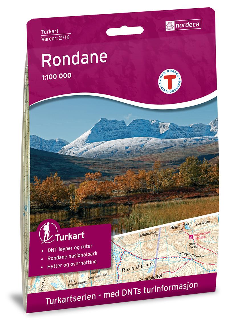 Wandelkaart 2716 Turkart Rondane | Nordeca