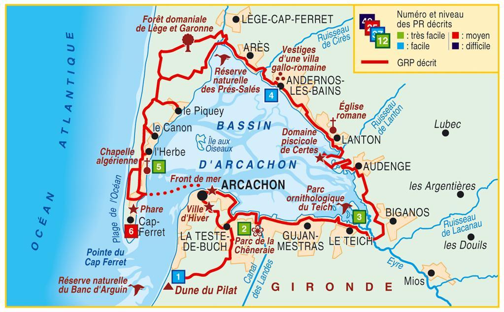 Wandelgids p331 autour du bassin d 39 arcachon pied ffrp 9782751407741 reisboekwinkel de - Office de tourisme bassin d arcachon ...