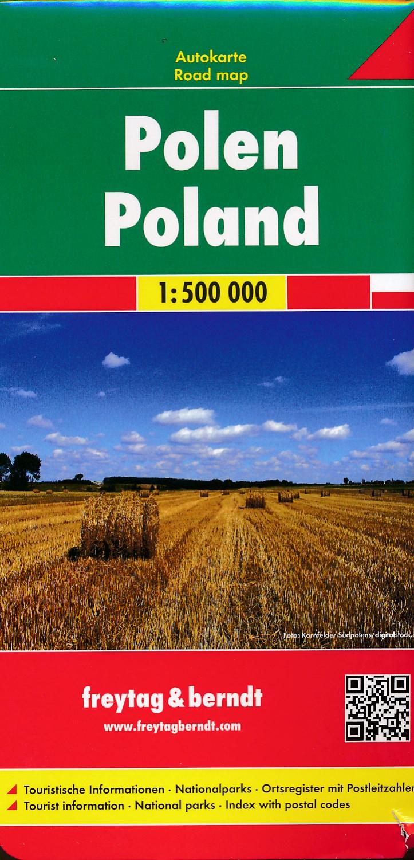 Wegenkaart - landkaart Polen | Freytag & Berndt