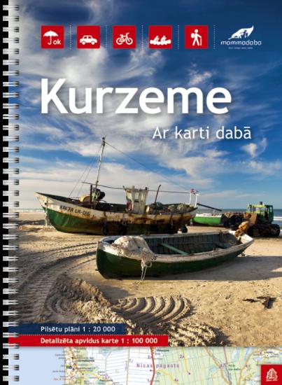 Wegenatlas Letland west - Kurzeme | Jana Seta