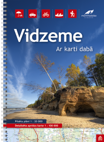 Wegenatlas Letland noord - Vidzeme | Jana Seta