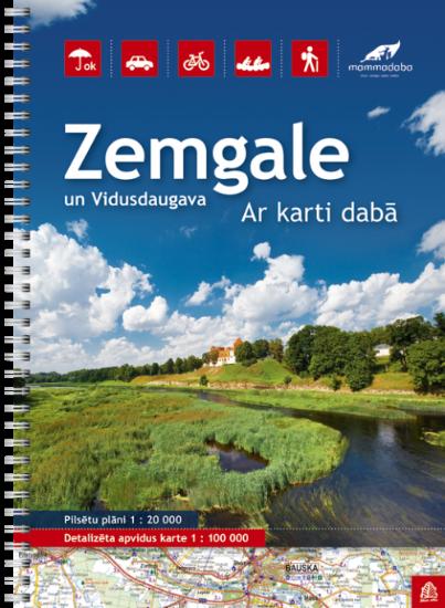 Wegenatlas Letland zuid Zemgale - Vidusdaugava | Jana Seta