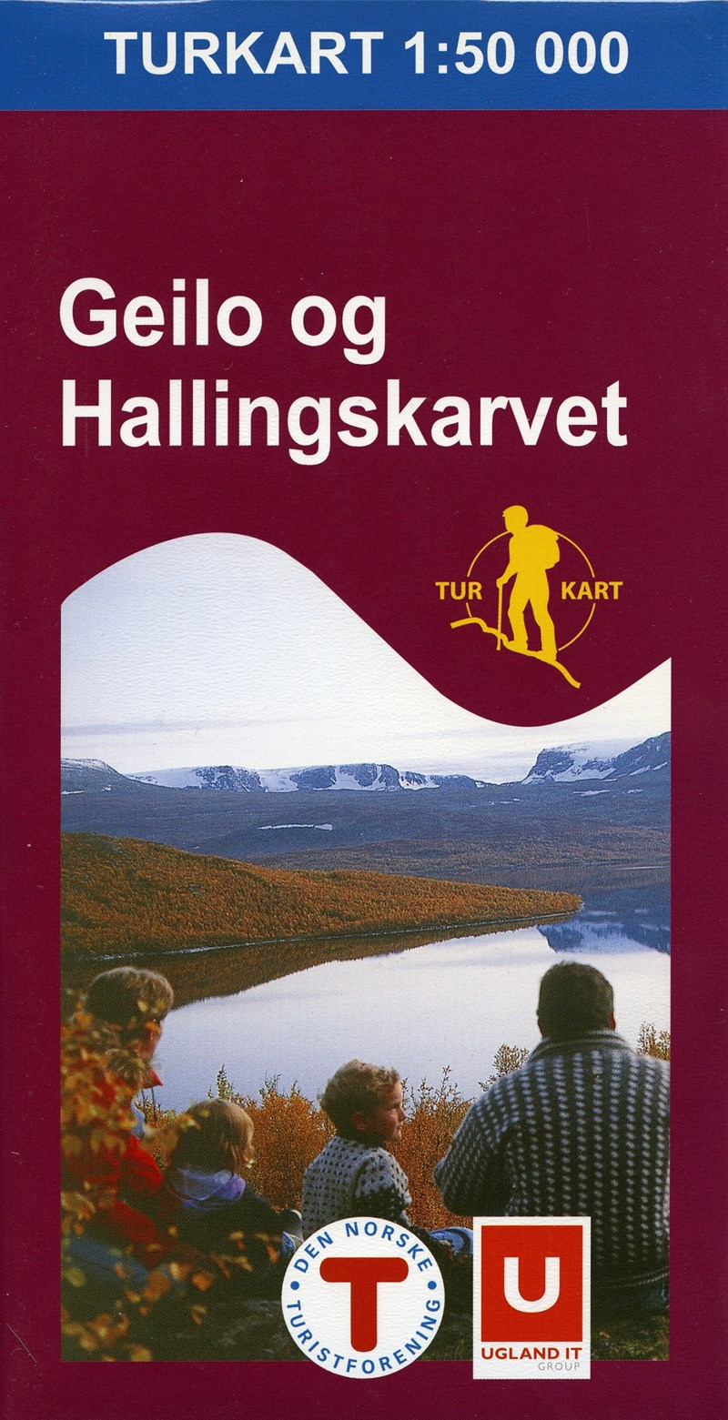 Wandelkaart 2519 Turkart Geilo og Hallingskarvet | Nordeca