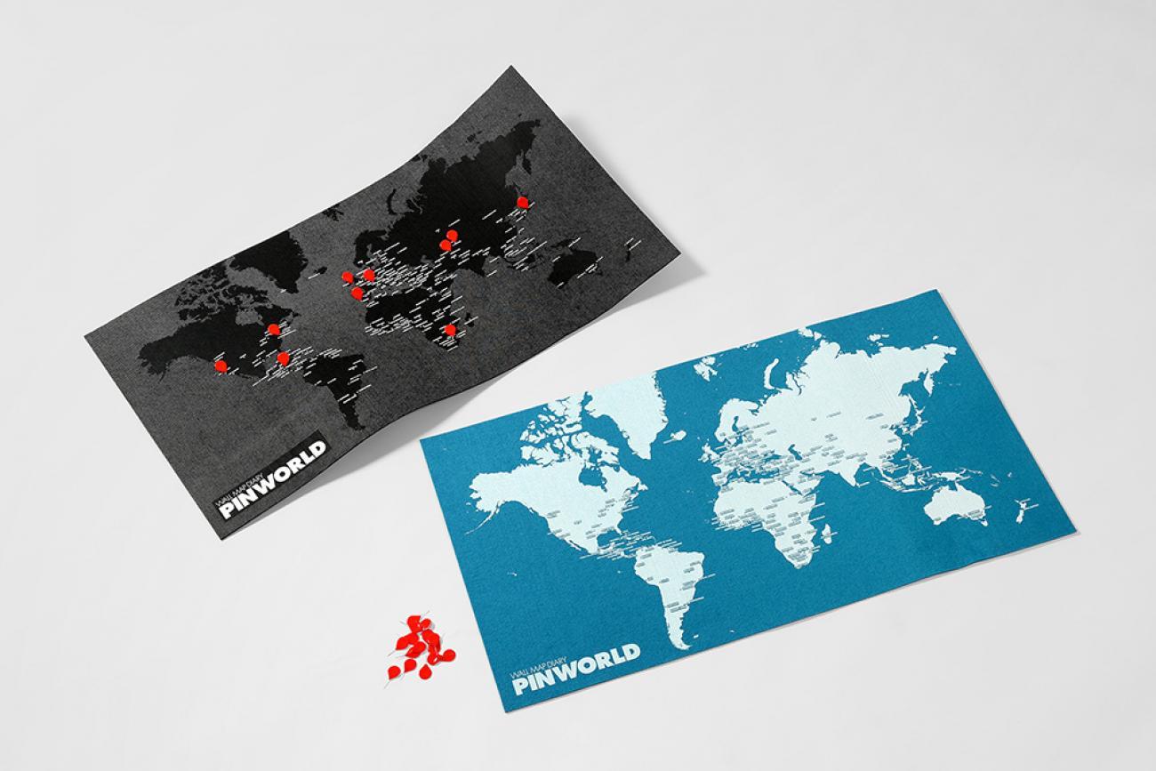 wereldkaart pin world wall map