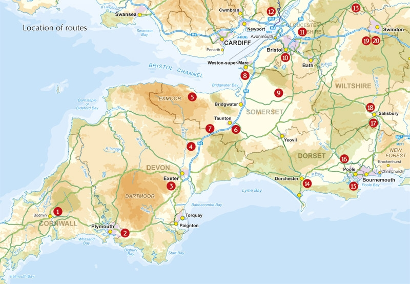 Fietsgids 20 Classic Sportive Rides South West England