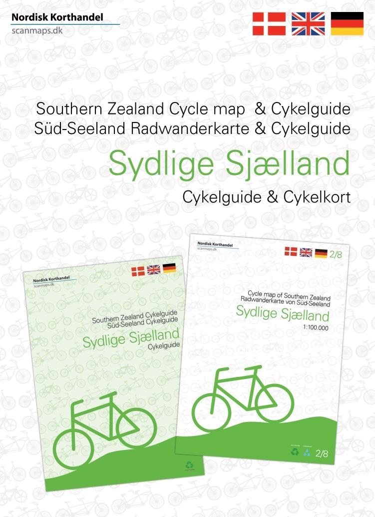Fietskaart - Fietsgids 2 Sydlige Sjaelland - Zuid Zeeland (set) | Scanmaps