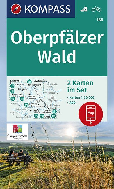 Wandelkaart 186 Oberpfälzer Wald | Kompass