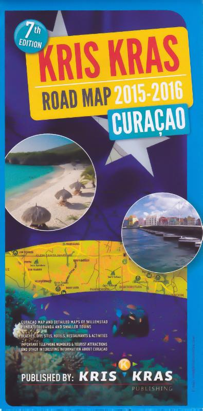 Wegenkaart - landkaart Curaçao | Kris Kras Publishing