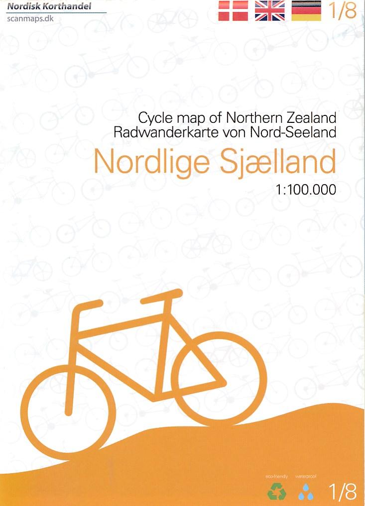 Fietskaart 1 Nordlige Sjaelland - Noord Zeeland (Denemarken) | Scanmaps
