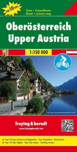 Wegenkaart - landkaart Oberösterreich - Noord Oostenrijk | Freytag & Berndt