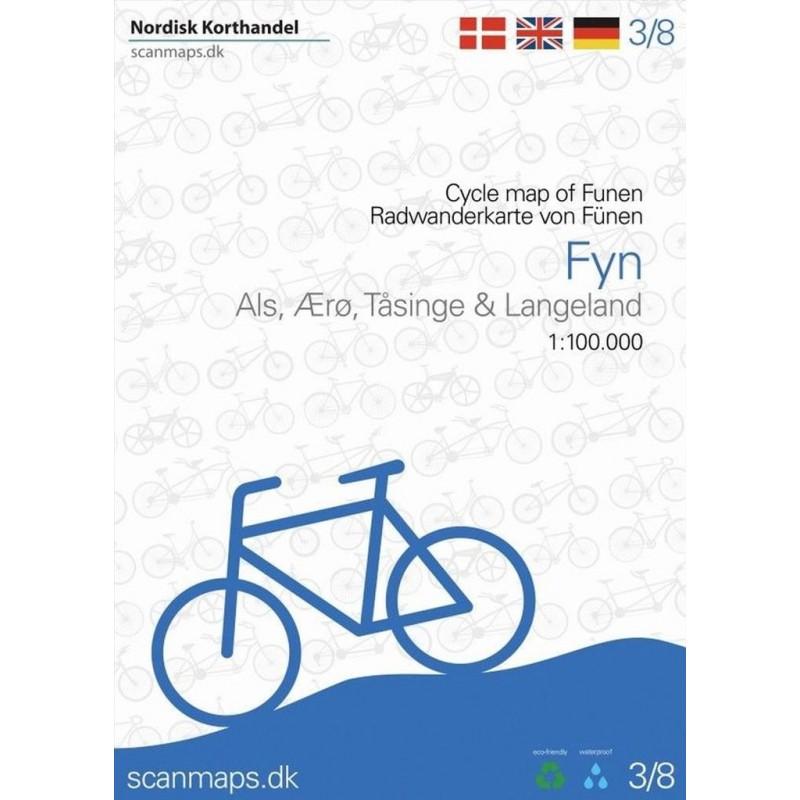 Fietskaart 3 Fyn - Funen (Denemarken) | Scanmaps