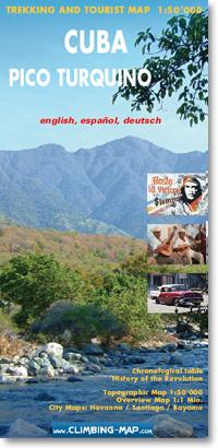 Wandelkaart trekkingmap Cuba - Pico Turquino | Climbing-map