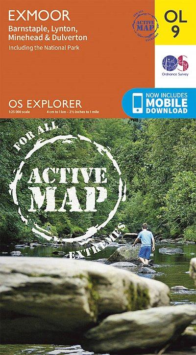 Wandelkaart OL9 Explorer OL Exmoor | Ordnance Survey