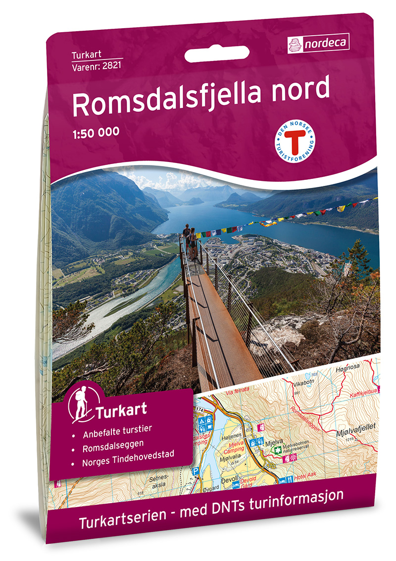 Wandelkaart 2821 Turkart Romsdalfjella Nord | Nordeca