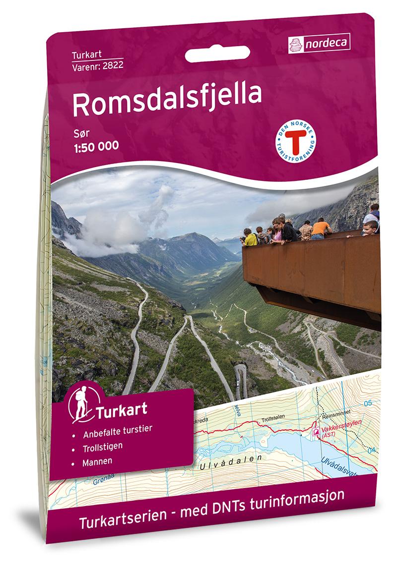 Wandelkaart 2822 Turkart Romsdalsfjella Sør | Nordeca