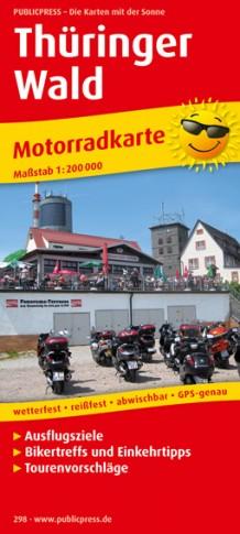 Wegenkaart - landkaart 298 Motorkarte Thüringer Wald | Publicpress