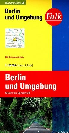 Wegenkaart - landkaart 6 Berlijn en Omgeving - Müritz -Spreewald | Falk
