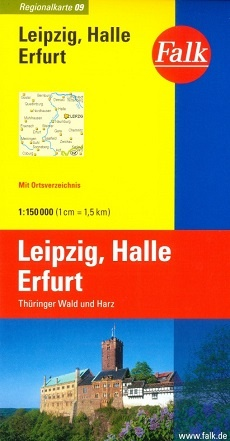 Wegenkaart - landkaart 09 Leipzig - Halle - Erfurt | Falk