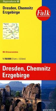 Wegenkaart - landkaart 10 Dresden - Chemnitz - Erzgebirge | Falk