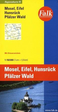 Wegenkaart - landkaart 11 Moezel - Eifel - Hunsrück - Pfälzer Wald | Falk