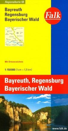 Wegenkaart - landkaart 13 Bayreuth - Regensburg - Bayerischer Wald | Falk