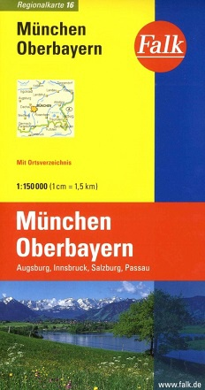 Wegenkaart - landkaart 16 München - Oberbayern - Beieren | Falk